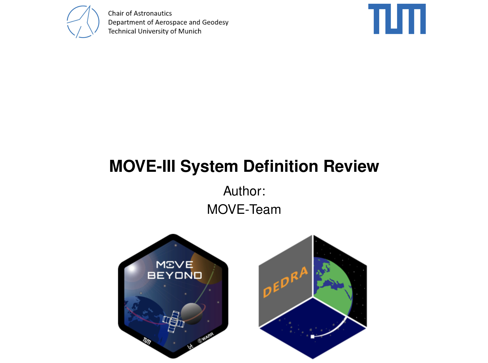 System Definition Review: finally completed!